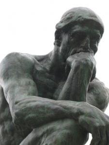 A. Rodin, Il pensatore (dettaglio)